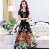 Harga Fashion Wanita Musim Panas Slim Tipis Lengan Pendek Tipe Panjang Chiffon Dress Bohemian Printed Girls Beach Dress Intl Yang Murah Dan Bagus