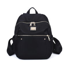 Fashion Women Waterproof Nylon Backpack Vintage Ransel untuk Gadis Remaja Sekolah Kampus Tas Travel Ransel Wanita dari Bahan Kulit