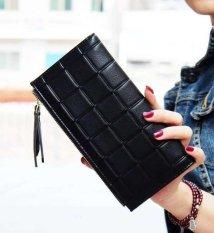 Harga Fashion Wanita Lama Double Zipper Dompet Rumbai Buckle Ladies Dompet Berkapasitas Besar Hand Bag Hitam Intl