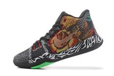 Modis Hitam Asli Sepatu Olahraga Resmi Sneakers NBA Sepatu 2014 NBA Semua-Bintang MVP Kyrie 3-Internasional