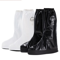 Modis Pria dan Wanita Tinggi Cylinder Sepatu Hujan Cover Pria Hari Hujan Riding Motor Kendaraan Listrik Waterproof Tebal Sepatu Cover (Hitam) -Intl
