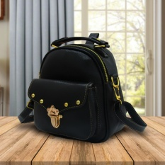 Fashionity Errika Mini  backpack 0800 FB - Tas Wanita - 2 Fungsi - Tas Ransel - Tas Selempang / Cro