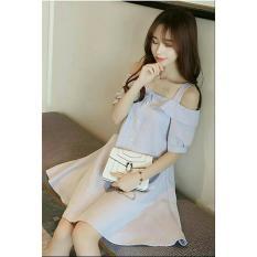 Fashionshop Dress Nikita Grey / Dress Korea / Dress Renda / Dress Brukat / Dress Midi