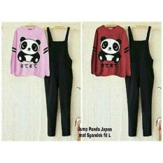 Fashionshop Jumpsuit Panda + Free Inner / Setelan Wanita /Jum panda / Jamsuit Wanita / Celana Panjang / Celana Kodok / Baju Kodok / Dress Muslim / Gamis Wanita / Baju Muslim/ Hijab Muslim / Fashion Muslim/ Gamis Modern/ Kemeja Muslim / Atasan Wanita