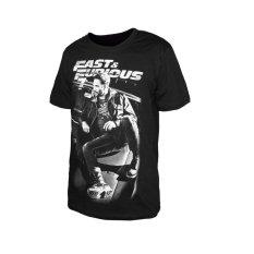 Diskon Produk Fast Furious 7 T Shirt Lengan Pendek Hitam Intl