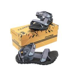 Faster Sandal Gunung Pria Cartenz 02 (2 in 1 model) - Black/Grey