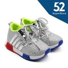 Spesifikasi Faster Sepatu Anak Sneakers 1612 12 1607 59 Silver Size 21 25 Murah