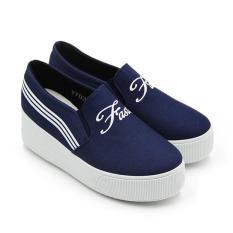 Harga Faster Sepatu Kanvas Sneakers Wanita 1703 075 Navy Size 36 41 Faster Original