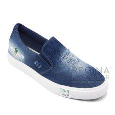Jual Faster Sepatu Slip On Kanvas Pria 1609 801A Dark Blue Satu Set