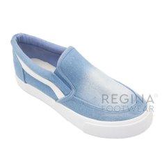Harga Hemat Faster Sepatu Slip On Kanvas Wanita 1609 803 Light Blue
