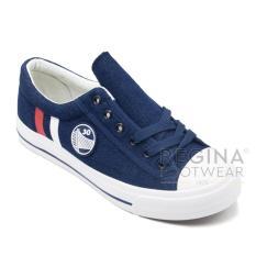 Harga Faster Sepatu Sneaker Kanvas Wanita 1609 802 Dark Blue Faster Original