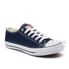 Jual Faster Sepatu Sneakers Kanvas Pria 1603 01 Navy Putih 40 45 Ori