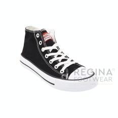 Situs Review Faster Sepatu Sneakers Kanvas Pria 1603 02 Hitam Putih 40 45