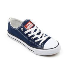Toko Faster Sepatu Sneakers Kanvas Wanita 1603 03 Navy White 36 40 Online Jawa Timur