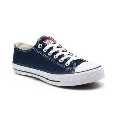 Harga Faster Sepatu Sneakers Kanvas Wanita 1603 03 Navy Putih Faster Asli