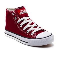 Beli Faster Sepatu Sneakers Kanvas Wanita 1603 04 Maroon Putih