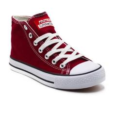 Top 10 Faster Sepatu Sneakers Kanvas Wanita 1603 04 Maroon Putih Online