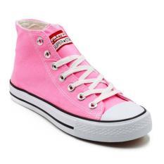 Beli Faster Sepatu Sneakers Kanvas Wanita 1603 04 Merah Muda Putih Kredit