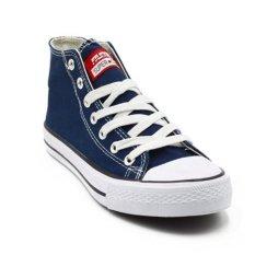 Spesifikasi Faster Sepatu Sneakers Kanvas Wanita 1603 04 Navy Putih Merk Faster