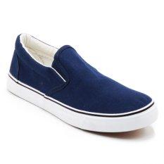 Faster Sepatu Sneakers Kanvas Wanita 1603 06 Navy Putih Promo Beli 1 Gratis 1