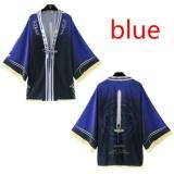 Spesifikasi Fate Stay Night Sabre Anime Jepang Yukata Haori Kimono Mantel Outerwear Tops Warna Biru Intl Yang Bagus Dan Murah