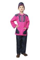 Review Fayrany Busana Muslim Anak Koko Denim Fkd 002D Pink
