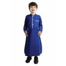 Fayrany Busana Muslim Anak Koko Gamis Warna FKG-002D - Biru
