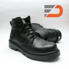 FD 020 Sepatu Safety Boots Pria - Black