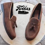 Harga Sepatu Pria Mansion Bell Brown Slip On Suede Premium Jawa Barat
