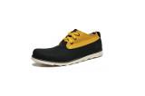 Sepatu Pria Two Tone Low Boots Black Hitam Fellas Shoes Diskon