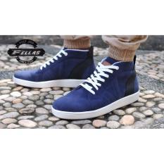 Review Tentang Sepatu Pria Varamus Navy Blue Sneakers Biru Tua