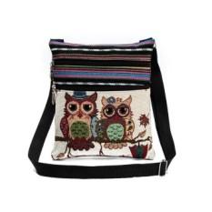 Spesifikasi Female Mini Flap Shoulder Handbags Cartoon Owl Printed Canvas Bags Intl Lengkap Dengan Harga