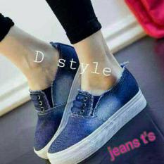 Femine - Sepatu Kets Sport Jeans Wanita J01 - Biru Tua