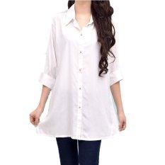 Jual Femme White Blouse Combi Lace Putih Ori