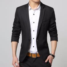 Spesifikasi Fesyen Zone Blazer Casual Black Hitam Paling Bagus