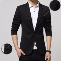 Review Fesyen Zone Blazer Instinct Black Hitam Fesyen Zone