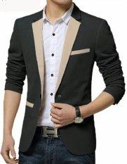 Beli Fesyen Zone Blazer Matrix Cream Hitam Cicilan