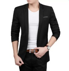 Spesifikasi Fesyen Zone Blazer Thunder Black Hitam Dan Harga