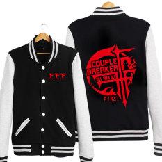 FFF Kaos Sweater Jaket Baseball untuk Pria atau Wanita Jas (Hitam)