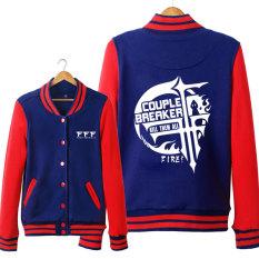 FFF Kaos Sweater Jaket Baseball untuk Pria atau Wanita Jas (Zang Merah)