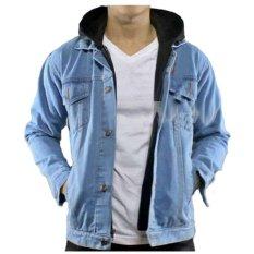Promo Fg Jaket Jeans Hoodie Ariel Denim High Quality Biru Akhir Tahun