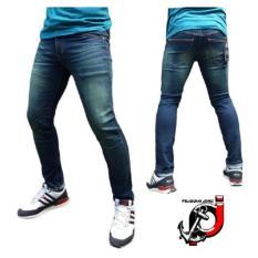 Toko Fifteen Denim Jeans Skinny Pria Dongker Scraft Hijau Online Jawa Barat