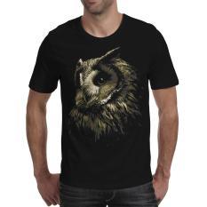 [Fika Store] Kaos Distro Kaos Pria Kaos 3D Kaos OWL FOR BLACK Kualitas Katun Premium