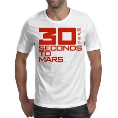 [Fika Store] Kaos Distro Kaos Pria Kaos 3D MUSIK BAND THIRTY SECONDS TO MARS
