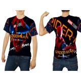 Harga Fika Store T Shirt Kaos Lengan Pendek Pria Tema Spiderman Homecoming 3D Fullprint Sublimation Art 1