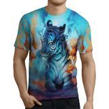 Toko Fika Store T Shirt Kaos Lengan Pendek Pria Tema Tiger 3D Fullprint Sublimation Art 5 Online Jawa Barat