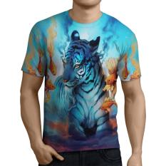 Harga Fika Store T Shirt Kaos Lengan Pendek Pria Tema Tiger 3D Fullprint Sublimation Art 5 Merk Fika Store