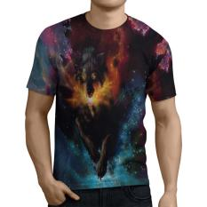 Spesifikasi Fika Store T Shirt Kaos Lengan Pendek Pria Tema Wolf 3D Fullprint Sublimation Art 7 Yg Baik