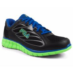 FILA Hyper Split 3 Sepatu Running - Black Blue Green 3e4b80eb1a