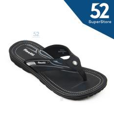 Finotti Sandal Kasual / Flip Flop Pria Kross - Black/Grey Size 38/42